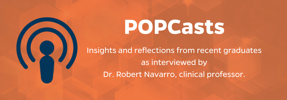 POPCasts feature alumni insights and relections on earning a graduate degree in outcomes and policy.