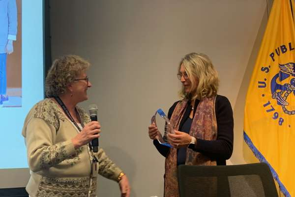 Dr. wintersteing receiving award
