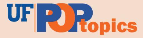 UF POPTopics Alumni Newsletter Logo